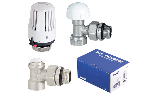 Sensor kit, Poker thermostatic right-angle valve + lockshield for steel pipe