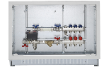 Heating/cooling consumption measuring with flow-return manifolds of 1' (2÷12 ways) equipped with valves and lockshields