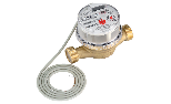 Hot water meter with pulse output
