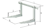 Fixing brackets with support for outdoor unit