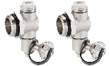 Couple of T-terminal with adjustable drain valve and manual vent valve