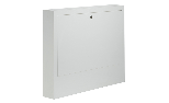 External cabinet in galvanised steel with painted door, white colour. Suitable for 1'1/4 Topway manifolds.