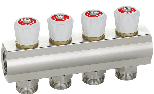 Topsan 24x19 sanitary manifold with bibcocks