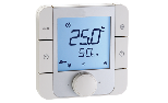 Room sensor temperature - humidity bus recessed with display