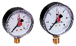 Pressure gauge according to EN837.1 with radial connection and casing in ABS
