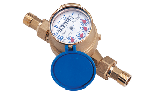 Water meter models with dry dial
