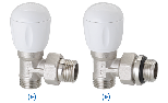Full thermostatizable righ-angle valve for multi-layer, connection G 1/2' M