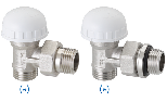Full thermostatic righ-angle valve for multi-layer, connection G 1/2' M
