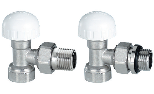 Thermostatic right-angle valve for steel pipe