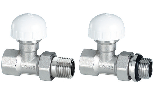 Thermostatic straight valve for steel pipe