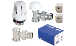 Sensor kit, thermostatic right-angle valve + lockshield and connection for Pex-la-Pex