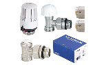 Sensor kit, thermostatic right-angle valve + lockshield and connection for Pex-Al-Pex
