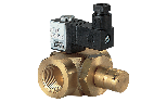 Manually-reset solenoid brass valve for gas Normally Closed