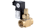 Manually-reset solenoid brass valve for gas Normally Opened