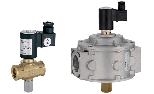 Manually-reset solenoid gas valve Normally Closed