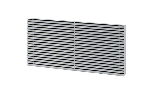 Anodised aluminium grille for EPD24PI