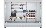 Heating/cooling and hot/cold domestic water consumption measuring with flow-return manifolds of 1' (2÷12 ways) equipped with valves and lockshields