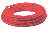 Gerpex RA pipe with red corrugated sheath