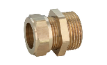 Metallic seal fitting with male thread for copper pipes