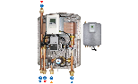 Rapid domestic hot water production module