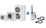 DC-Inverter Air-Water monobloc heat pump Mirai SMI + Febos-HP for Heating and Cooling Residential environments with plant management system integrated and remote control through an App
