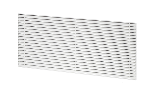 Anodised aluminium grille for dehumidifier for recessed wall mounting EPD 24-4PI, RAL 9010 white color