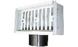 Galvanised sheet metal plenum for inlet/extraction with adjustable damper for grille 200x100 mm, side coupling