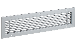 Anodised aluminium linear grille 200x100 mm painted white RAL 9010