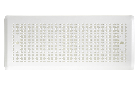 Rectangular grille 200x100 mm with perforated panel for wall, painted white RAL 9010