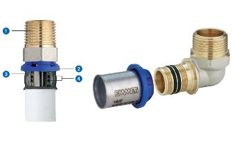 Tubi multistrato e raccordi a pressare per acqua e gas for Raccordi pex per scaldacqua