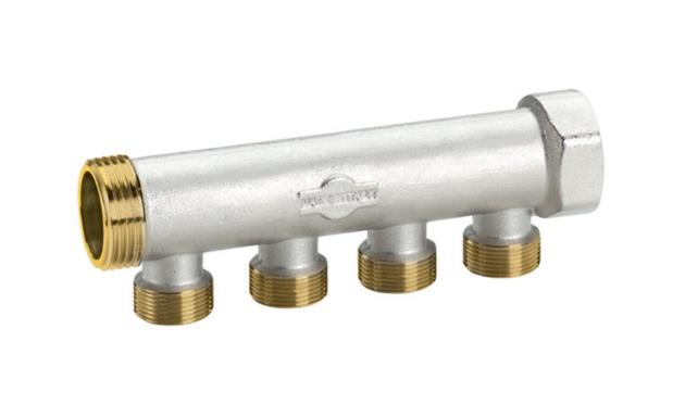 Modular collettore nichelato per tubo rame multistato for Tubo pex vs tubo di rame